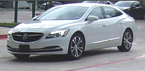 Suspect was seen driving a white 2017 - 2018 Buick LaCrosse with an unknown license plate number.